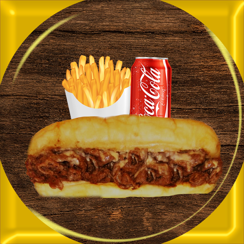 cheese steak and fries